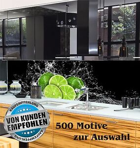 k chenr ckwand spritzschutz fliesenspiegel nach ma acrylglas individuell motiv ebay. Black Bedroom Furniture Sets. Home Design Ideas