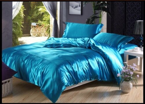 FREE SHIPPING 800 TC 1pc Fitted//Flat US Cal-King Size Polyester Silk Bedding