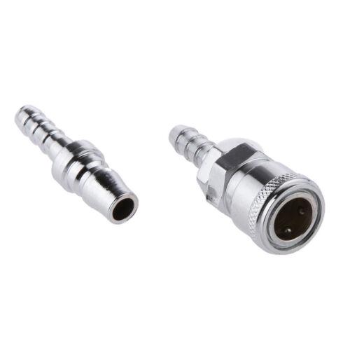 4Pcs 8mm SH20 Barb Pneumatic Air Line Hose Quick Release Coupler Connector