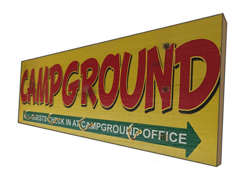 Distressed Campground Wooden Sign