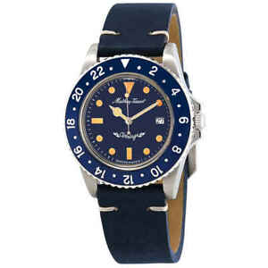 Mathey-Tissot-Mathey-Vintage-Quartz-Blue-Dial-Men-039-s-Watch-H900ALBU