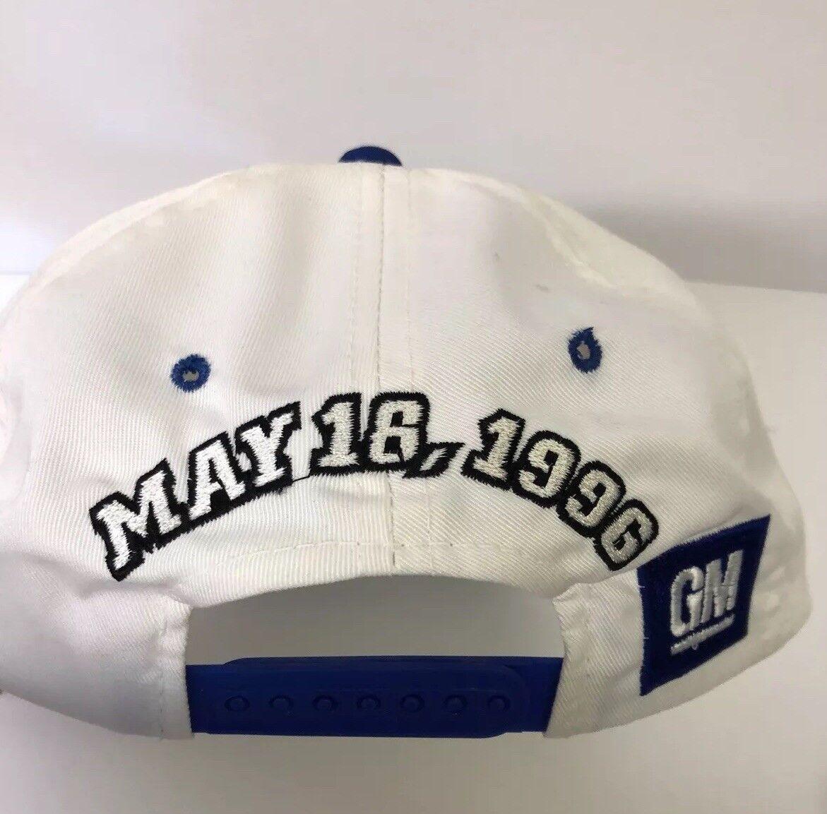 1996 Dale Earnhardt Big Car Red Blue White & Blue Red Nascar SnapBack Hat Cap a9e1c5