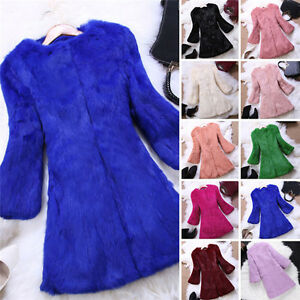 Fox Frakke Varm Fur Rabbit Collar Elegant Jacket Real Long Genuine 100 Outwear Iwv8aOqx