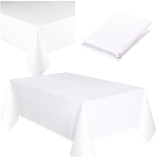 Plastic table cover cloth square réutilisable nettoyage étanche fête nappe