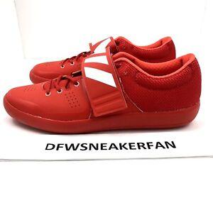 Adidas Adizero Rio Shot Put Discus Track Shoes Red White SZ 10.5 BB4118
