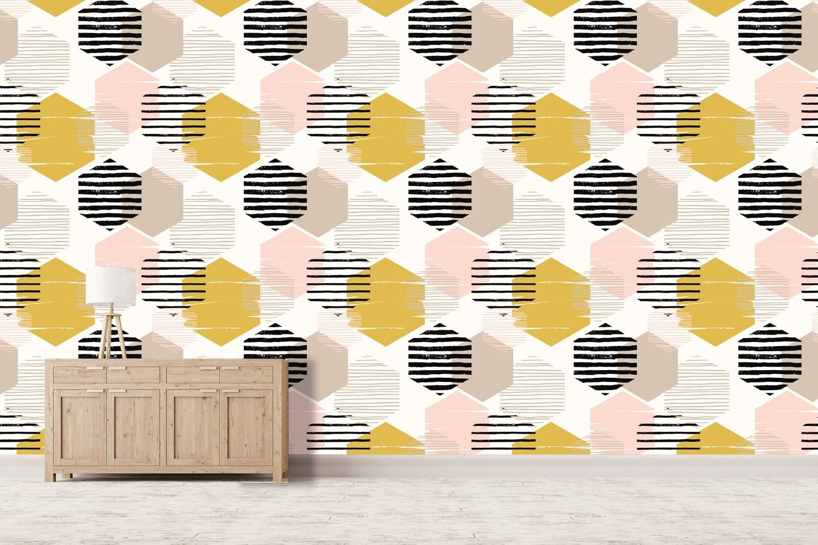 3D Hexagon Pattern 785 Wallpaper Mural Paper Wall Print Murals UK Summer