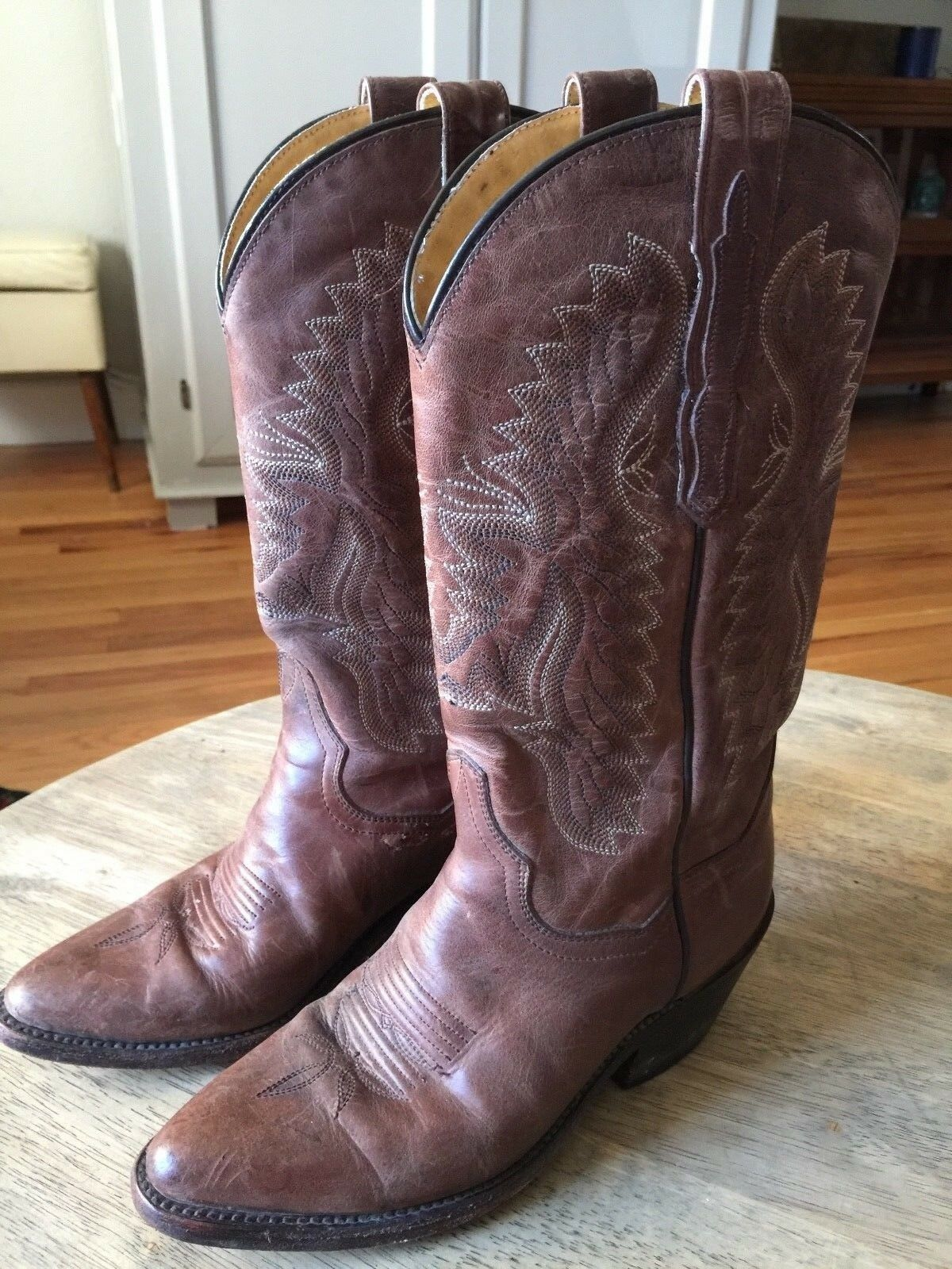 DAN POST Classic Style WOMENS Brown Leather Cowboy Boots Sz 6m