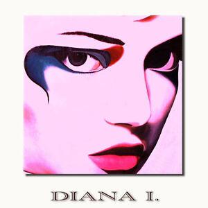 Diana auf leinwand akt frau gesicht pink moderne kunst - Moderne wandbilder auf leinwand ...