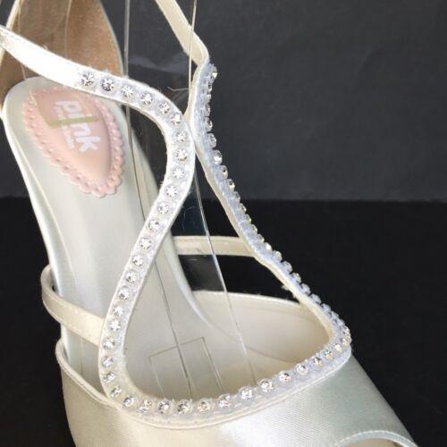 Paradoxe Pink party 20/% OFF ivoire satin cristal Lanières Mariage Talon Haut Sandales