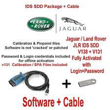 JAGUAR XJ XK XF F tipo diagnostica KIT IDS SDD jlr V138 + V131 Cable + USB 16GB