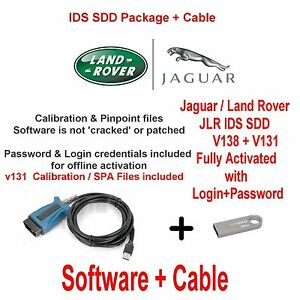 Details about Jaguar XJ XK XF F Type Diagnostics kit IDS SDD JLR v138 +  V131 Cable + USB 16GB