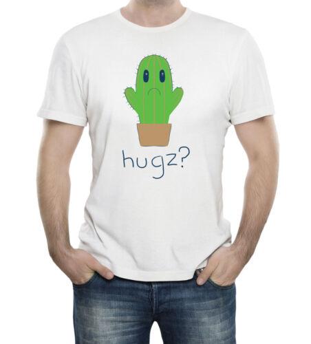 No Hugs For Cactus T-Shirt 100/% Soft Cotton