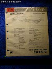 Sony Service Manual CDX R88VF CD Player (#3478)