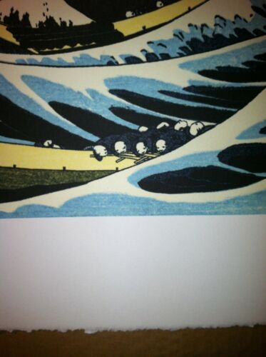 The Great Wave 22x30 Japanese Woodblock Print Hokusai Asian Art Japan Warrior
