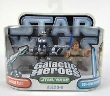 "Brand New Star Wars Galactic Heroes "" JANGO FETT and OBI-WAN KENOBI "" Figures"