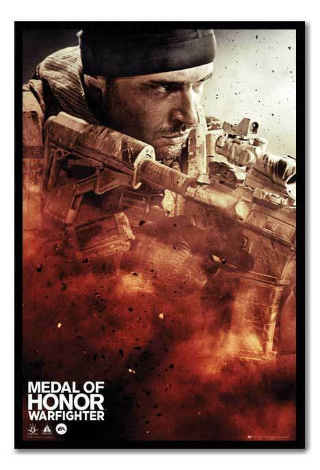 Framed Medal Of Honour Warfighter Cover Poster Magnetic Notice Board Inc Magnets