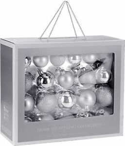 image is loading set of 42 real glass silver christmas tree