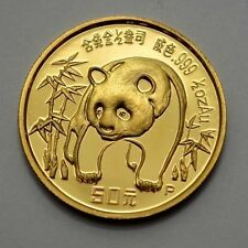 PROOF UNC 1986 China Panda 1/2 oz .999 Gold 50 Yuan Coin Chinese Gold Coin