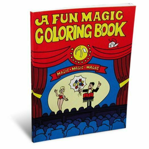 """COLORING BOOK OF MAGIC BY MAGIC MAKERS 1.25/"""" X 1.75/"""" TINY SIZE TRICK KIDS TOY"""