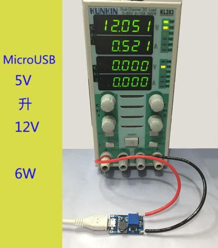 DC-DC Boost Step up Conversion Module MicroUSB 2V-24V to 5V-28V 9V 12V 24V^FDCA