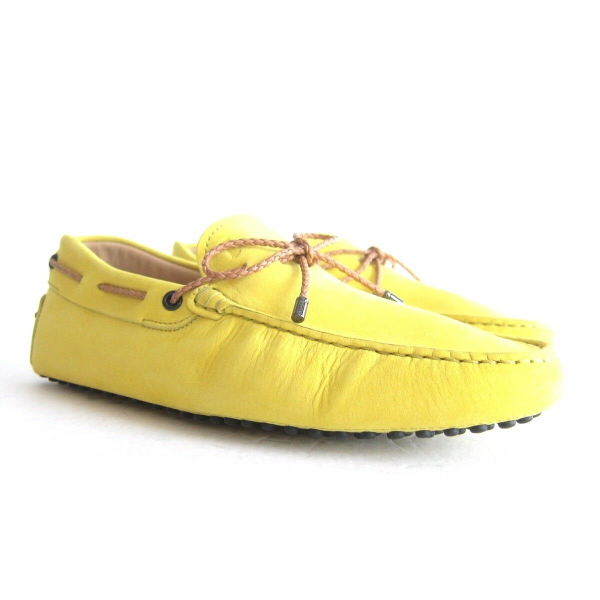 P-332129 New Tods Gommini Yellow Suede Driving shoes Size US 10 UK 9
