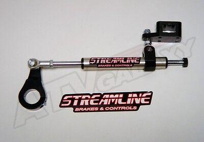 Streamline 7 Way Adjudtsble Steering Stabilizer Damper BLACK Can Am DS650 DS 650