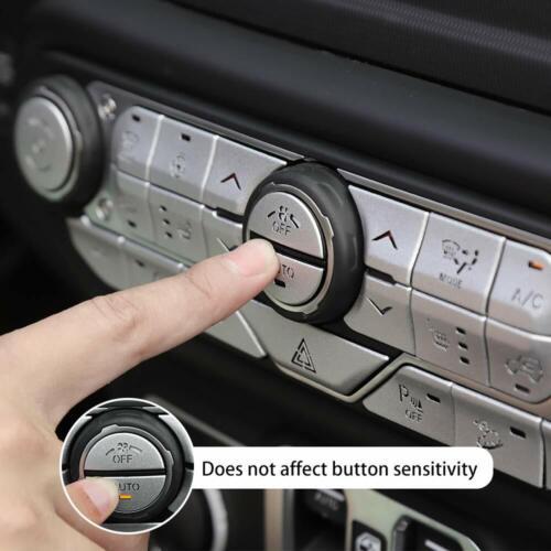Center Console Button Decorative Cover Trim Kit for 18-19 Jeep Wrangler JL JLU