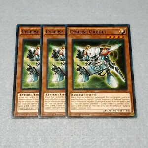 3x-Yugioh-Cyberse-Gadget-SDPL-1st-Edition-Common-Card-Playset-NM