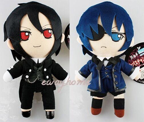 Anime Kuroshitsuji Black Butler Sebastian Michaelis/Ciel Plush Toy Figures