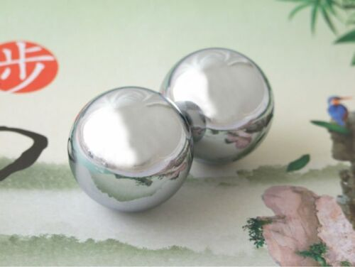 Baoding Balls Solid Stainless Steel 60mm 2pcs For Wrist Strengthening Relaxation