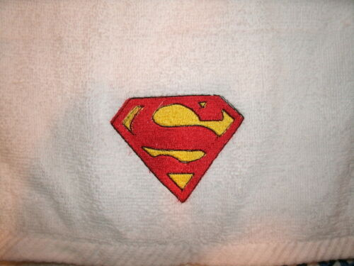 Superman Logo Personalized 2 Piece Bath Towel Set Superman Logo  Any Color