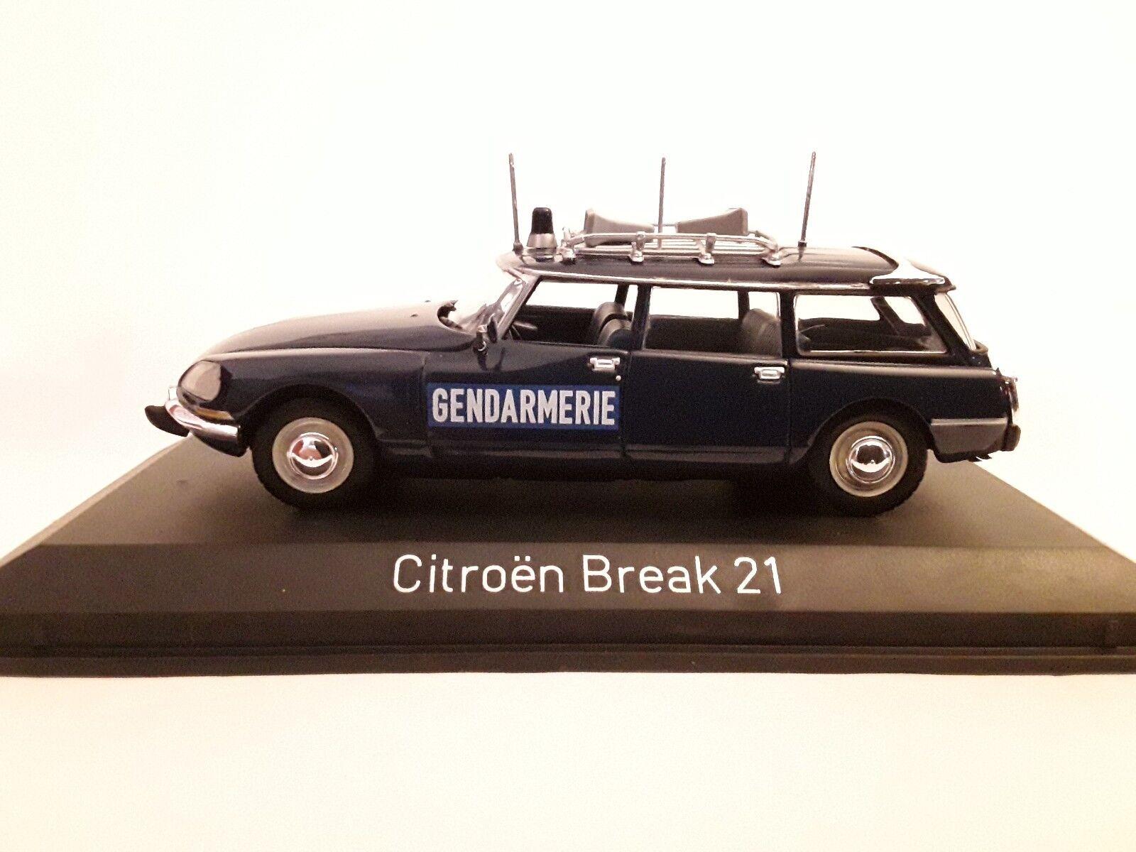 Citroen Break 21  Gendarmerie 1974  1 43 Norev 155043