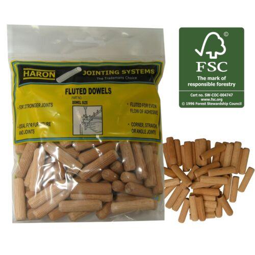 40Pcs Or 100Pcs Haron FLUTED DOWEL 10mm Use PVC Wood Glue /& Framing AUS Brand