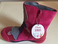Clarks Binkies Rabbit Bunny Pink Iva Friend Suede Girls Boots 7 G  /  11F BNIB