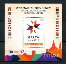 Malta 2017 MNH Presidency of European Union EU Council 1v M/S Flags Stamps