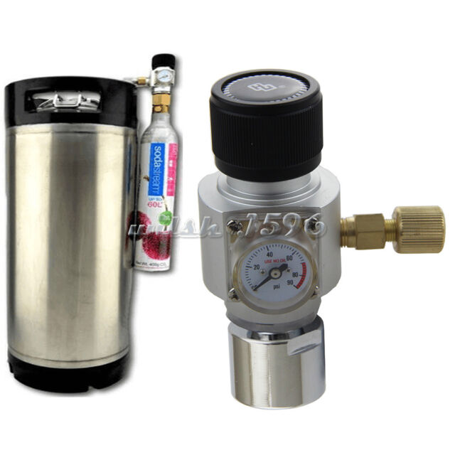 Corny Keg Regulator CO2 Charger Kit for Soda Stream Cylinder Draft Beer Homebrew
