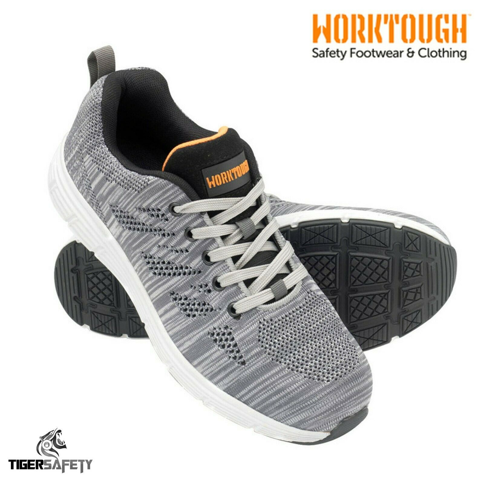 b3c6908b778204 Worktough Rapid S1P SRC Grey Knitted Toe Cap Modern Safety shoes ...