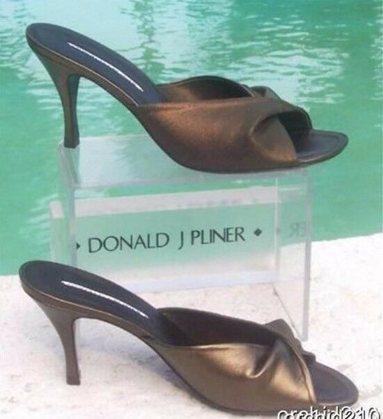 Donald Pliner Couture Metallic Elastic Mesh and Leather Slide Slide Slide chaussures New NIB  255 d019f2