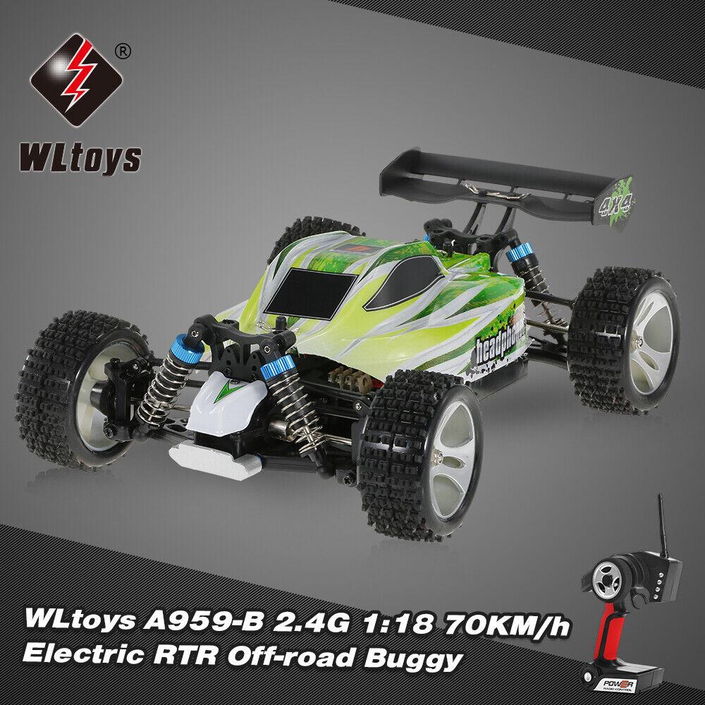 WLtoys Upgraded A959-B 2.4G 1 18 Scale 70KM H 540 Brushed Motor RC Car U3B2
