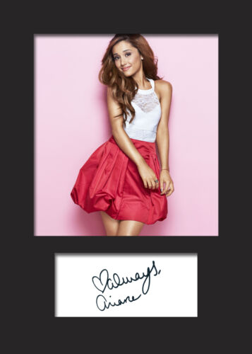 ARIANA GRANDE #1 A5 Signed Mounted Photo Print FREE DELIVERY