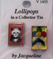 Dollhouse 2-pc Filled Lollipops Tin V1455 Jacquelines Miniature 1:12 gemjane