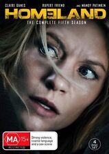 HOMELAND-Season 5-Region 4-New AND Sealed-4 Disc Set-TV Series