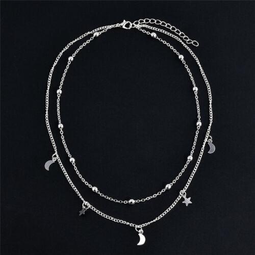 Fashion Women Charm Jewelry Pendant Chain Choker Chunky Bib Statement Necklace