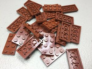 LEGO 2x4 Plates Reddish Brown LOT OF 25 - NEW - 3020