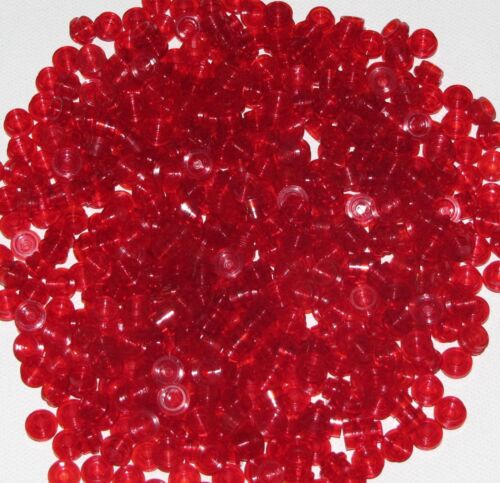 Lego Lot of 500 New Trans-Red Plates Round 1 x 1 Straight Side Transparent Parts