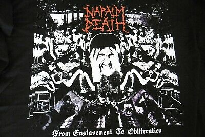 "Napalm Death /""From Enslavement To Obliteration/"" Zip Hoodie NEW OFFICIAL"