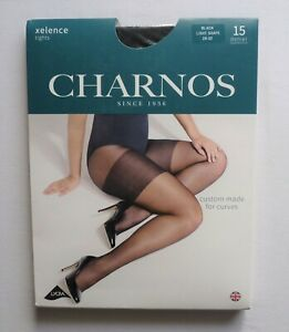 1f194a56266 Image is loading Charnos-Xelence-Light-Shape-Black-15-Denier-Tights-