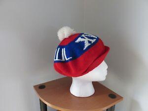 Super Bowl XVI knit cap hat beanie pom pom red white blue winter  40e8b382f