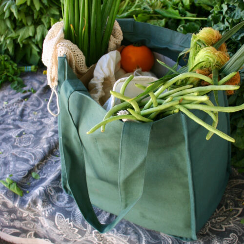 Simple Ecology Organic Cotton Deluxe Reusable Grocery Shopping Bottle Sleeve Bag