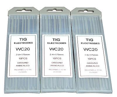 TIG Welding Tungsten Electrodes 2/% Ceriated 0.040 x 7 Grey, WC20 10-Pack